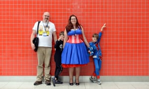 The Waggott family at the ExCel centre