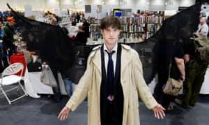 Visitor Andrew Wishart at the ExCel centre as Castiel.