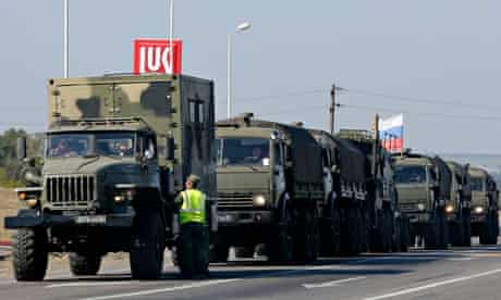 Russian military convoy