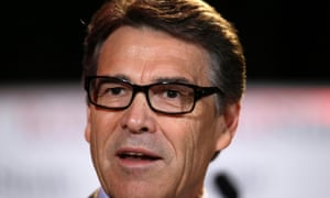 Texas governor Rick Perry giving a speech in July.