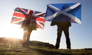 Scotland flag and England flag
