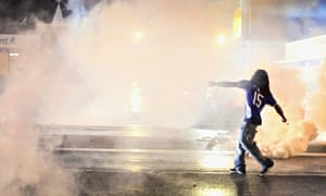 Clashes in Ferguson after Michael Brown was shot