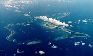 FILE PHOTO OF INDIAN OCEAN ISLAND OF DIEGO GARCIA.