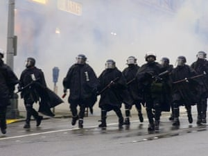 Seattle police during the 1999 protests.