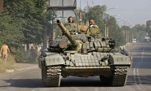 Pro-Russian rebels Krasnodon, eastern Ukraine