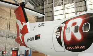 Qantas' new plane.