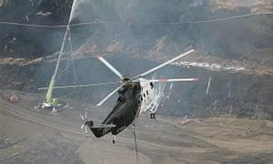 Firefighters battling the Morwell blaze