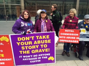 Royal commission protest