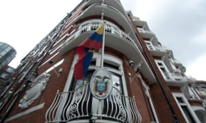 Ecuador embassy in Knightsbridge London.