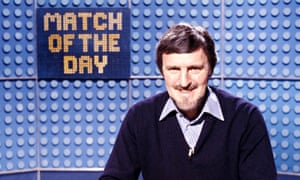 Jimmy Hill presenting Match of the Day in 1981.