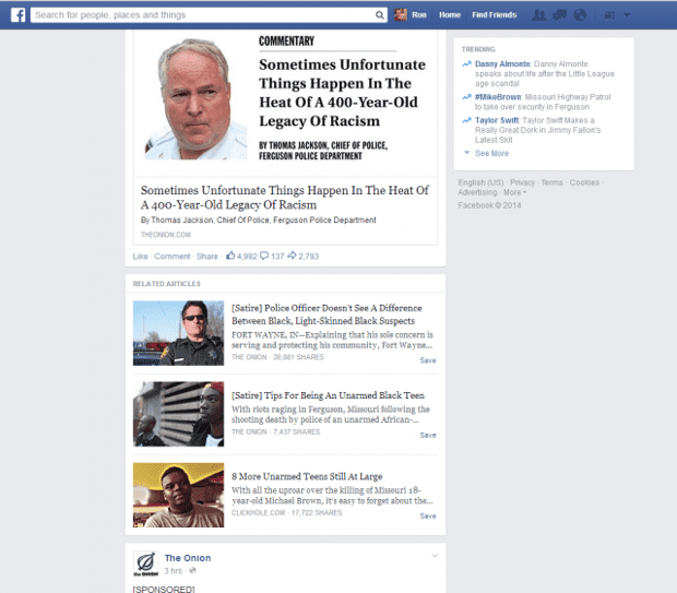 Facebook Satire Tag Aims To Stop You Getting Fooled By The Onion