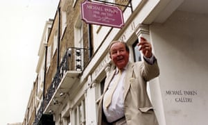 Michael Parkin outside his gallery in Belgravia, central London.