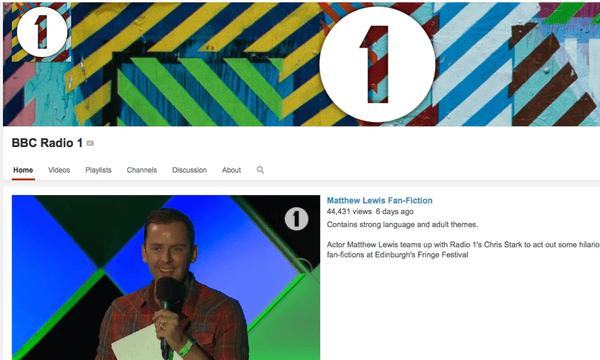 Radio 1 Youtube
