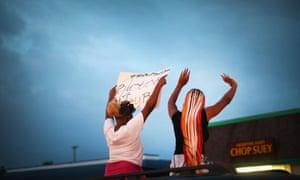 Ferguson demonstrators