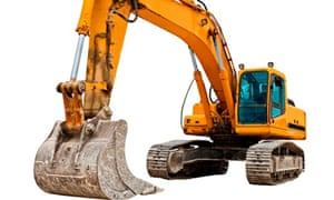 According to urban myth, many diggers, too awkward to retrieve, have simply been left, buried underg