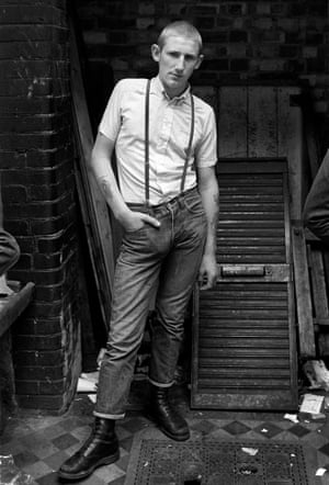 Kevin, photographed next to The Last Resort shop in Goulston Street, 1981.