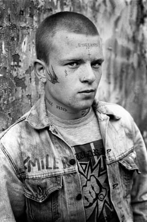 I entitled this photograph 'Smiler' since he's got it written on his jacket. His real name was Wayne and his street name was Wally. In an email he informed me that he was sixteen when I took this photograph in 1984.
