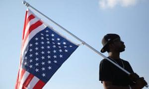 ferguson protester flag