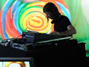 Aphex Twin performs at the Pitchfork Music Festival in 2011