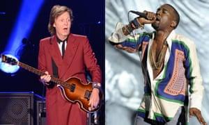 Paul McCartney and Kanye West