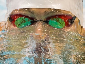Germany's Markus Deibler competes in a men's 200m medley heat at the LEN Swimming European Championships in Berlin, Germany.