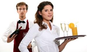 A waiter and waitress