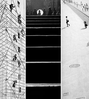 A composite of Working Skywards, Steps and Street.