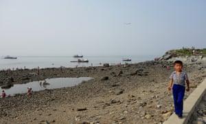 north korea beach