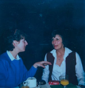 Nina with her mother in 1982.