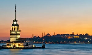 The Maiden's Tower in Istanbul.