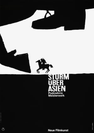 Storm over Asia, 1928, Vsevolod Pudovkin (poster for a rerelease in 1961).