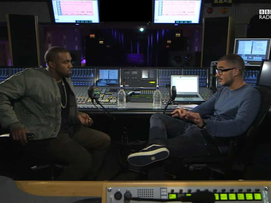Kanye West is interviewed by BBC Radio 1's Zane Lowe, a video that attracted more than 3m views on the station's YouTube channel