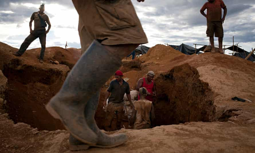 Illegal miners in search of gold in Venezuela's southern Bolivar state