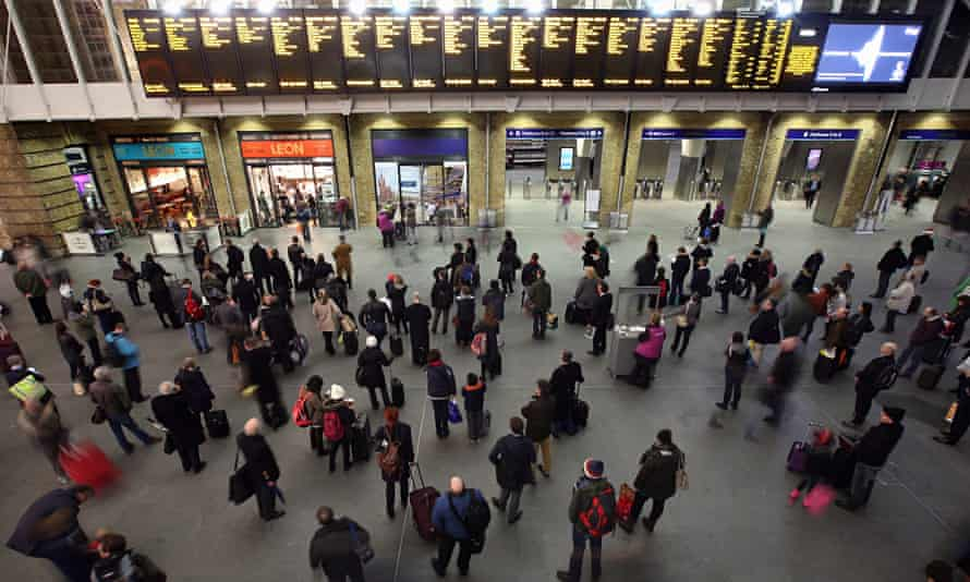 Passengers at Kings Cross railway station.