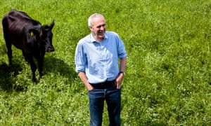 Patrick Holden and cow