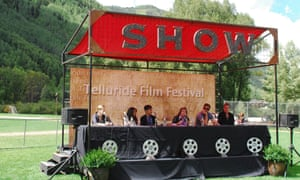 A panel discussion at Telluride in 2012.