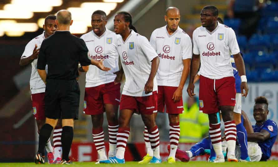 Aston Villa players during the 3-1 pre-season defeat to Chesterfield.