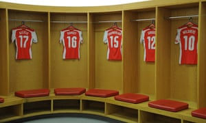 The Arsenal dressing room