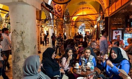 A group of women taking a rest in the Istanbul's Grand Bazaar