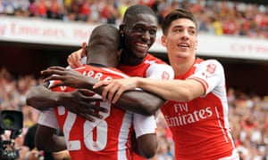 Joel Campbell after putting the Gunners 2-0 up.