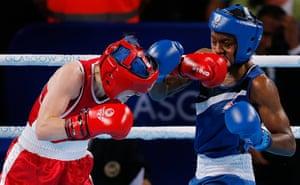 Tom Jenkins day 10: Michaela Walsh punches Nicola Adams
