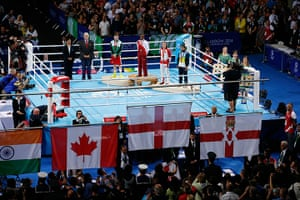 Tom Jenkins day 10: Nicola Adams watches the flags go up