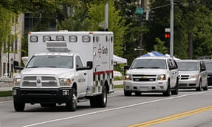 Ebola patient ambulance