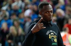 Usain Bolt by Tom Jenkins: Usain Bolt winks