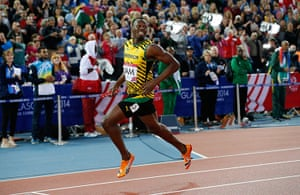 Usain Bolt by Tom Jenkins: Usain Bolt smiles