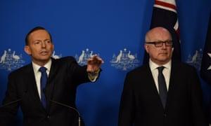 Tony Abbott and George Brandis