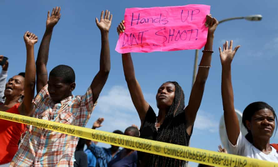 hands up don't shoot woman