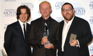 The way they were …Wright, Pegg and Frost pick up a prize for Hot Fuzz in 2007.