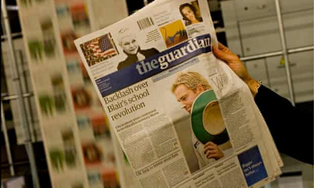 The first copy of the new Guardian Berliner newspaper