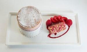 Raspberry soufflé, The Pompadour